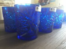 More details for libbey blue glasses/tumblers x 6
