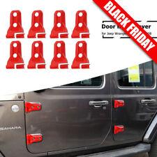 Red Door Hinge Trim Cover for 2018 Jeep Wrangler JL 4-Door Accessories Pack of 8