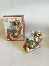 Fritz Floyd Teddies Christmas Lidded Box Sold In Macy's Sleigh Holiday Santa