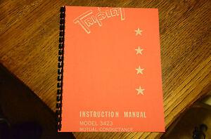 Triplett 3423 Tube Tester Most Complete Manual Reprint + Test Data & Calibration