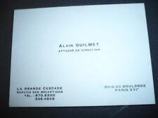 RESTAURANT LA GRANDE CASCADE BOIS DE BOULOGNE CARTE ALAIN GUILMET