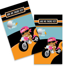 Motorcycle African American Baby Girl - Baby Shower Scratch Off Game Pack