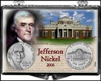 Jefferson Nickel 2006, 2x3 Snap Lock Coin Holder, 3 pack