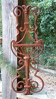 FOUNTAIN CREST Cast Iron Wrought Garden Decorative Gate