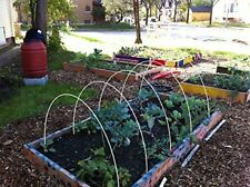 """Double Hoops For Row Cover Hoop House Support, Plant Cover 8ft 1/4"""" Dia 5 Pack"""