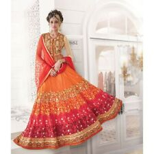 Lehenga choli Indian ethnic party wear heavy embroidery skirt top chaniya