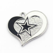 10pcs Heart Dallas Cowboys NFL Floating Dangle Charms Jewelry Necklace Pendant