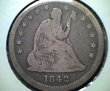 1842-O 25C  Liberty Seated Quarter ,  VG , scarce