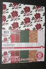 Recollections Classic Christmas Cardstock Paper 8.5 x 11in 25 sheets NIP