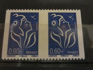 VARIETE N°3973 1 PAIRES DE ROULETTE LAMOUCHE BLEU SANS DECOUPE** signé calves