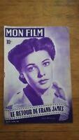 MON FILM N°93 1948 Gene Tierney - Le retour de Franck James - dos Anne Baxter