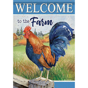 """MINI FLAG - Rooster On - Chicken - Carson #49609 - 12.5""""x18"""""""