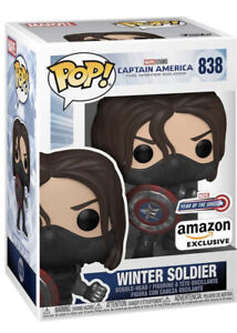 Funko POP! Marvel The Winter Soldier #838 Year of the Shield Amazon w/PROTECTION