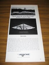 1964 Print Ad Apache Silver Eagle Tent Camping Trailers Vesely Lapeer,MI