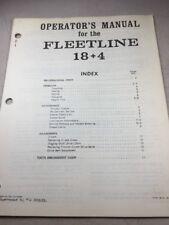Davis 18+4 Fleetline Trencher Operators Manual