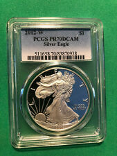 2012-W PCGS PR70DCAM Silver Eagle Dollar TOP POP