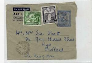 BRITISH GUIANA: 1954 Up-rated Air Letter to Scotland (C37755)