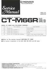 Service Manual-Anleitung für Pioneer CT-M66R