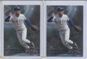LOT of 2 Derek Jeter 1996 Skybox Metal Universe Cards #87 New York Yankees HOF