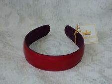 Vera Bradley Baekgaard Leather Headband Cherry/Plum  Free Shipping BIN $15