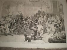 Mummers at Christmas in the olden time by E H Corbould 1866 print ref C