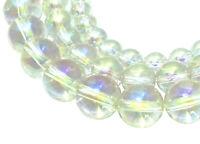 😏 Bergkristall opalisierende Kugeln in 6, 8 & 10 mm Edelstein-Perlen Strang 😉