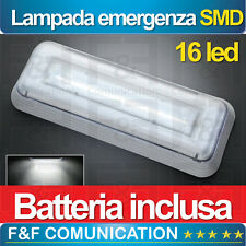 LAMPADA EMERGENZA LED RICARICABILE SMD BATTERIA INCLUSA IP42 16 LED CE ELIOS NEW