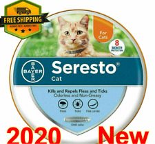 Bayer Seresto Flea and Tick Treatment Collar for Cat Under 18 lbs Over 10 Weeks