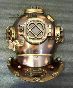 """Marine 18"""" Navy Mark V Helmet Replica Door Knock US Window Antique Diving Helmet"""