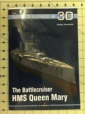 Battle Cruiser, HMS Queen Mary,  WW I, Super 3-D Ship Drawings