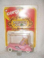 1979 Jim Henson's Muppet Show Corgi Miss Piggy in car on card Nrfb
