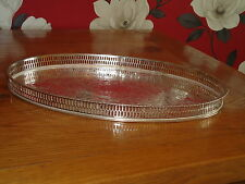 Large Vintage Gallery Tray - Silver Plated Viners of Sheffield England - Serving