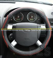 UNIVERSAL MERCEDES FAUX LEATHER LOOK RED STEERING WHEEL COVER