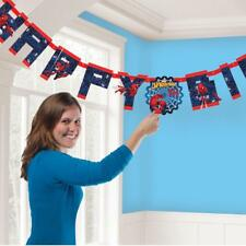 SPIDERMAN add age LETTER BANNER  -  MARVEL PARTY DECORATION BUNTING DECORATION