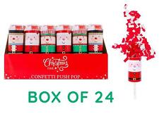 24x Confetti Push Pop Cannon Popper White Red Christmas New Year's Multipack