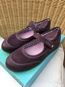 Bnib Clarks Girls Plum Leather Mary Jane Shoes Size 12F