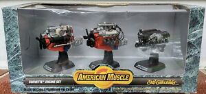 NEW Ertl American Muscle Collectibles Corvette Diecast Engine Set 1957 1967 1997