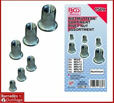### Assortiment de 150 insert rivet fileté ecrou aluminium - M3 à M10