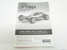 NEW KYOSHO 4WD  Manual TURBO OPTIMA KG~0