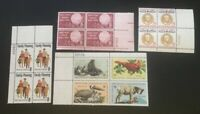4 Different MNH .08 plate Blocks...as Pictured... Lot 1