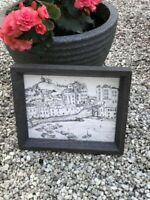 Christmas Gift Tenby Harbour Ink Drawing A4