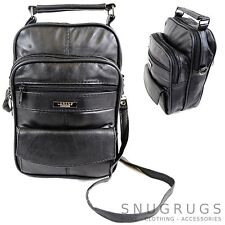 Mens / Ladies Super Soft Nappa Leather Shoulder / Carry Travel / Flight Bag