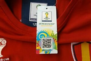 BNWT SPAIN Football Shirt Soccer Jersey 2014 WORLD CUP Fussball Futbal Calcio