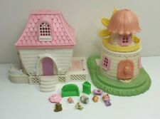 Vintage lot of Charmkins House Windmill charmkin figurines accessories 1980s