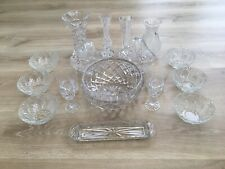 More details for collection job lot of molded glassware basket bowls rose vase fruit bowl glass