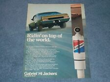 "1976 Gabriel Hi-Jackers Vintage Shock Ad ""Ridin' On Top of the World""  1971 Nova"