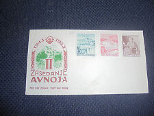 YUGOSLAVIA 1953 - FDC II. ZASEDANJE AVNOJ-A - LJUBLJANA (K-2)