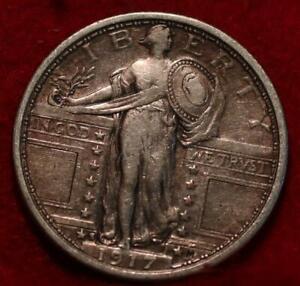 1917-S Type 1 San Francisco Mint Silver Standing Liberty Quarter