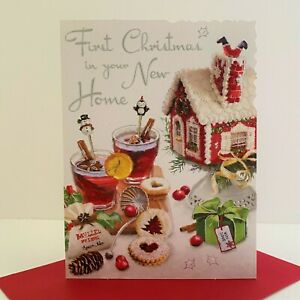 Jonny Javelin First Christmas In Your New Home Card Mulled Wine House/XV108
