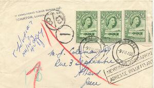 BECHUANALAND 1959 1/2 D. QEII landscape (3 x) + POSTAGE DUE MARKS to ATHEN
